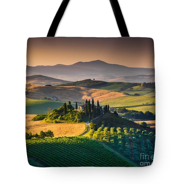 A Morning In Tuscany Tote Bag