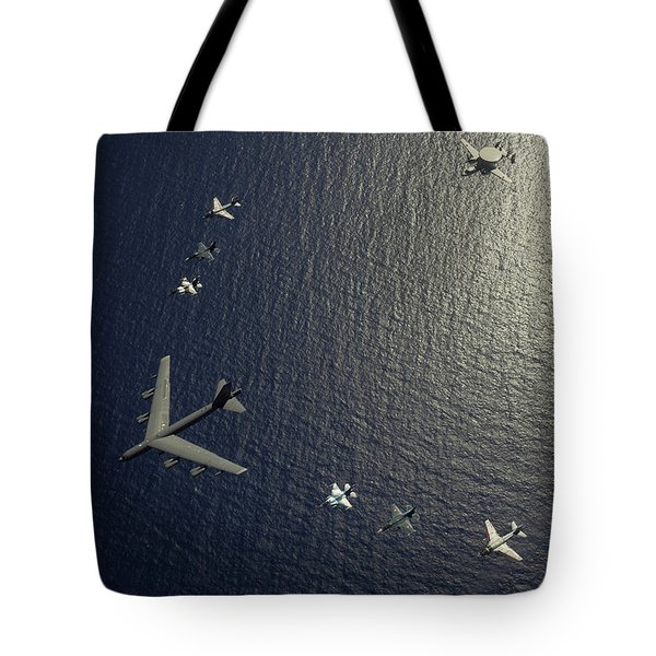 A U.s. Air Force B-52 Stratofortress Tote Bag by Stocktrek Images