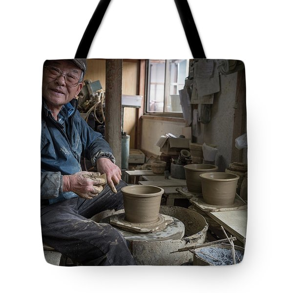 A Village Pottery Studio, Japan Tote Bag