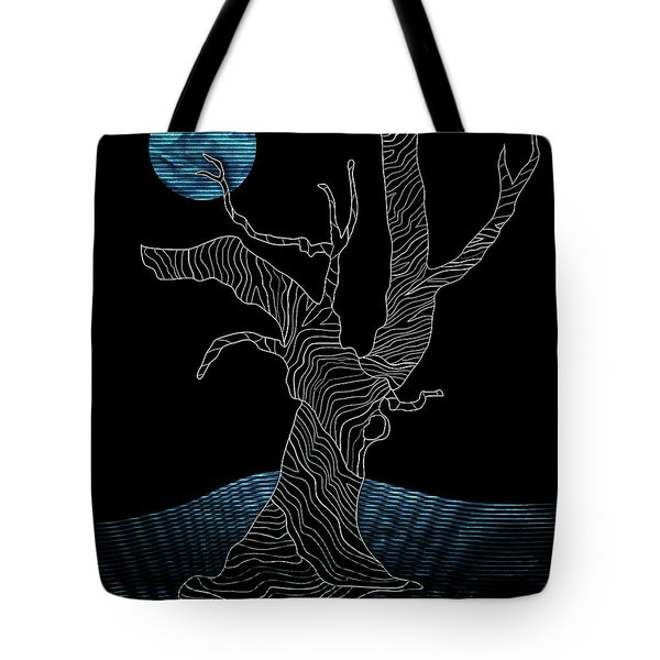 Abstract Gnarly Tree Tote Bag by Serena King