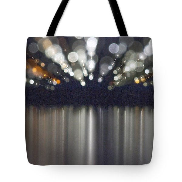 Abstract Light Texture With Mirroring Effect Tote Bag by Odon Czintos