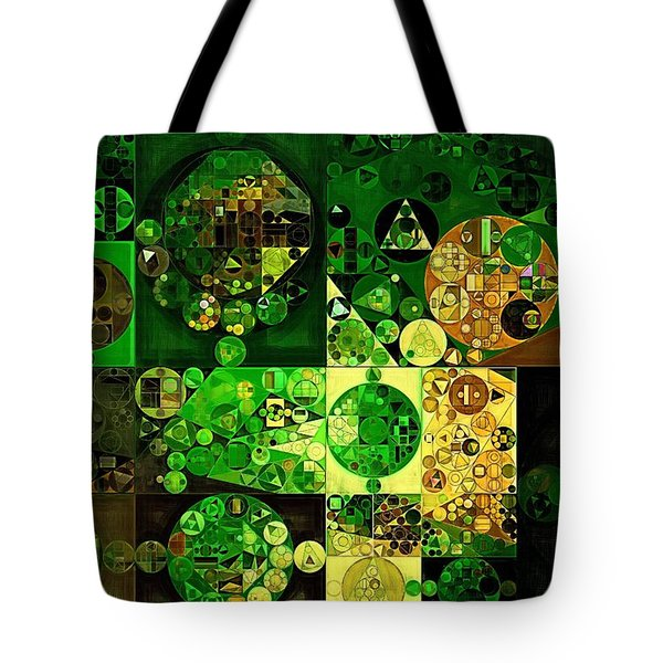 Tote Bag featuring the digital art Abstract Painting - Dell by Vitaliy Gladkiy