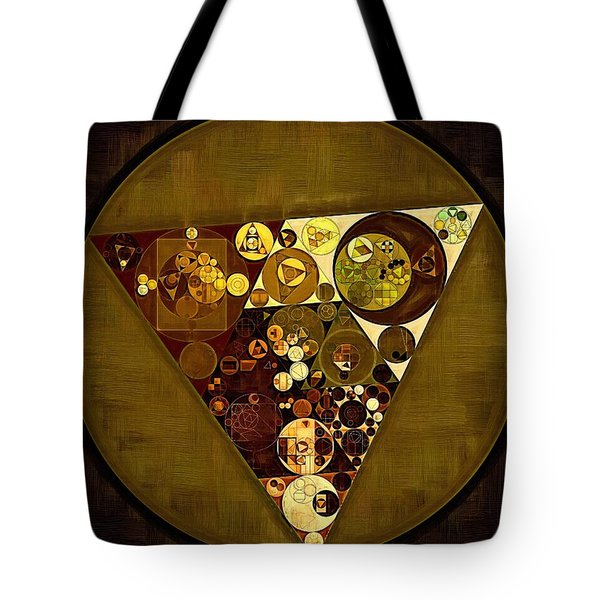 Abstract Painting - Golden Sand Tote Bag by Vitaliy Gladkiy
