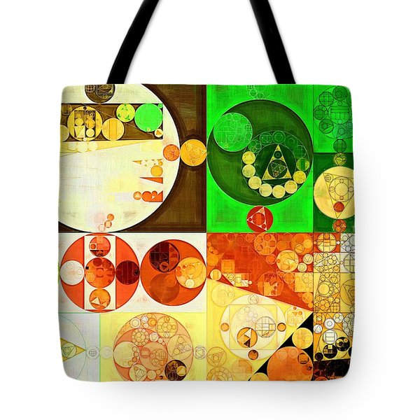 Abstract Painting - Kelly Green Tote Bag by Vitaliy Gladkiy