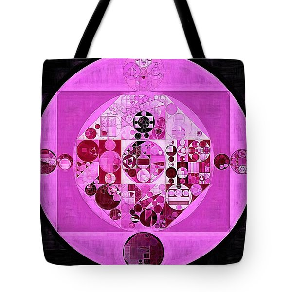 Tote Bag featuring the digital art Abstract Painting - Lavender Magenta by Vitaliy Gladkiy