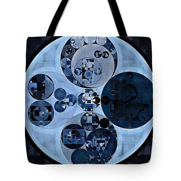 Tote Bag featuring the digital art Abstract Painting - Polo Blue by Vitaliy Gladkiy