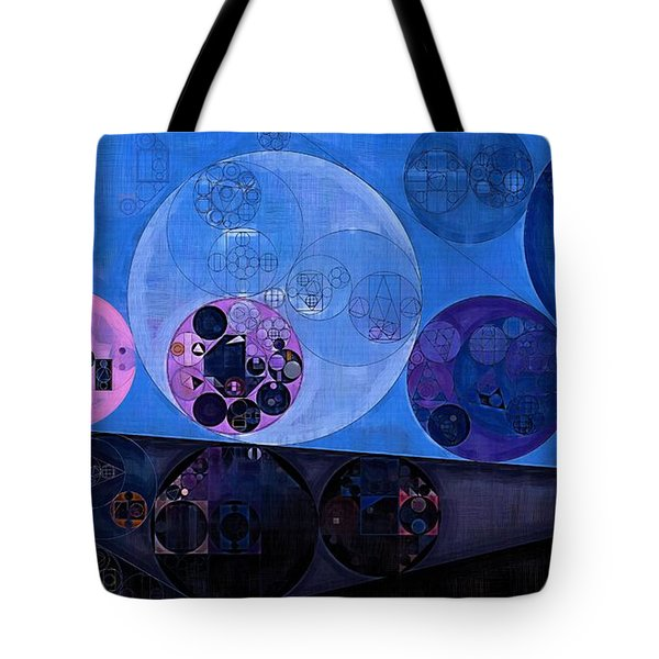 Tote Bag featuring the digital art Abstract Painting - Saint Patrick Blue by Vitaliy Gladkiy