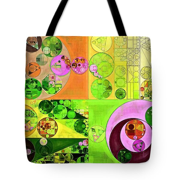 Abstract Painting - Turtle Green Tote Bag