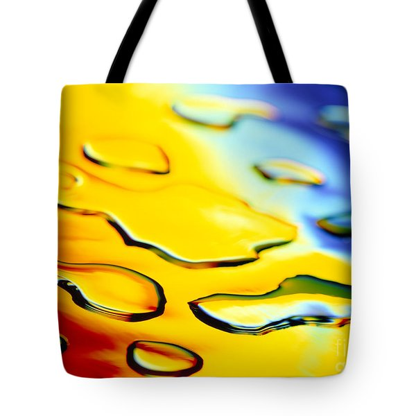 Abstract Water Tote Bag by Tony Cordoza