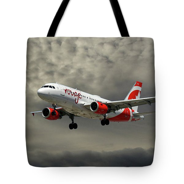 Air Canada Rouge Airbus A319 Tote Bag