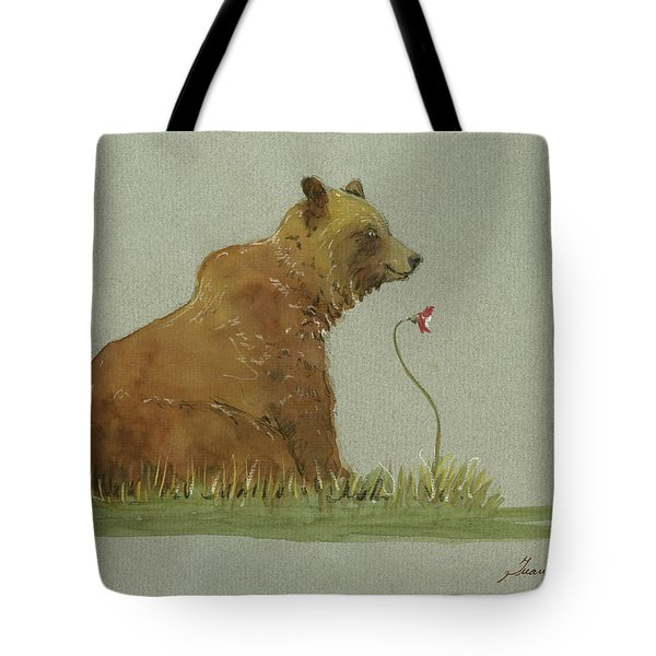 Alaskan Grizzly Bear Tote Bag