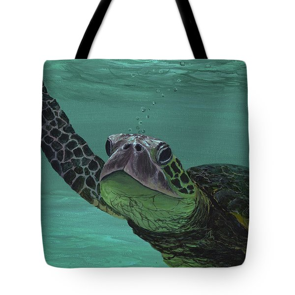 Tote Bag featuring the painting Aloha From Maui by Darice Machel McGuire