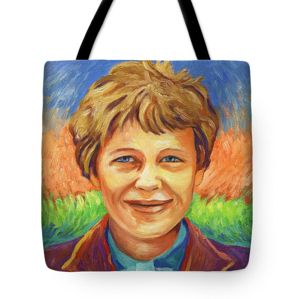 Amelia Earhart Portrait Tote Bag