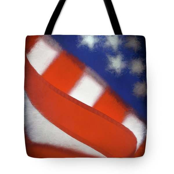 American Flag Tote Bag by George Robinson