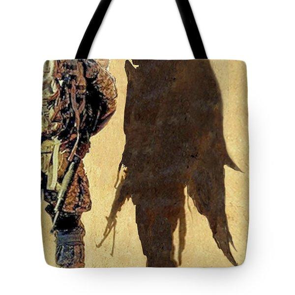 Angel Waiting Tote Bag by Todd Krasovetz