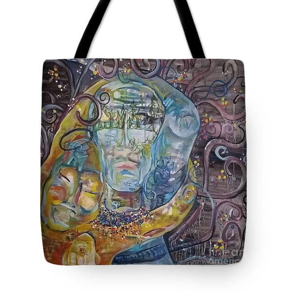 2 Angels Hugging Environmental Warrior Goddess Tote Bag