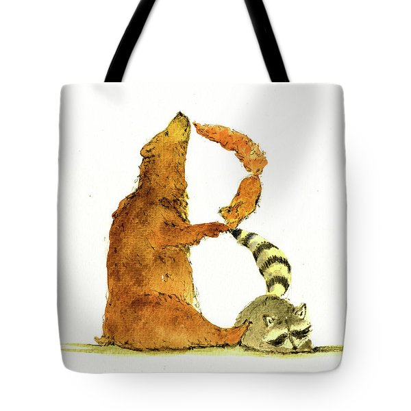 Animal Letter Tote Bag
