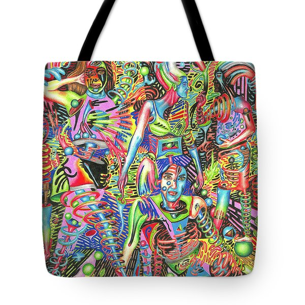 Animated Perspective Of Nocturnal Wandering Tote Bag