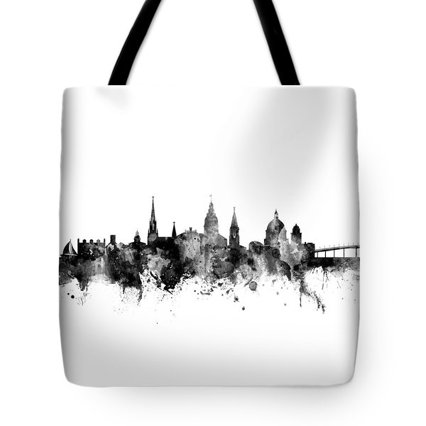 Tote Bag featuring the digital art Annapolis Maryland Skyline by Michael Tompsett