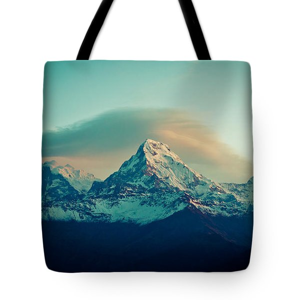 Annapurna South At Sunrise In Himalayas Artmif Photo Raimond Klavins Tote Bag