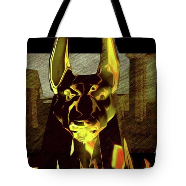 Anubis, God Of Egypt Tote Bag