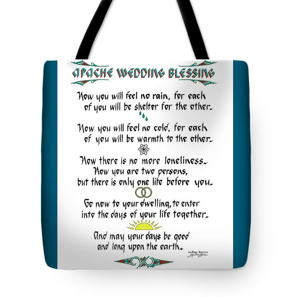 Apache Wedding Blessing Tote Bag