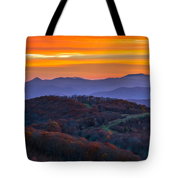 Tote Bag featuring the photograph Appalachian Sunrise by Serge Skiba