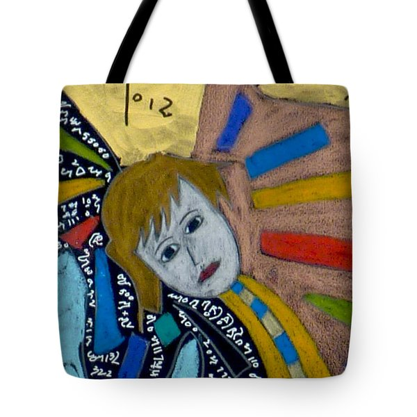 Tote Bag featuring the painting Archangel Gabriel by Clarity Artists