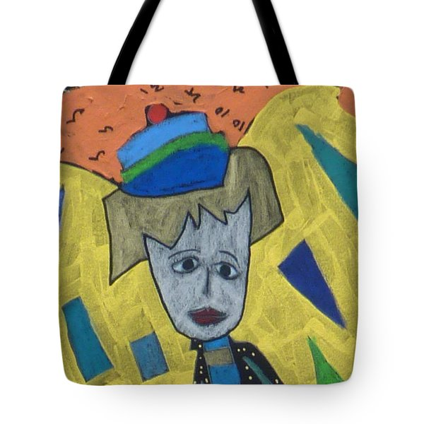 Tote Bag featuring the painting Archangel Haniel by Clarity Artists