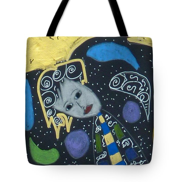 Tote Bag featuring the painting Archangel Jophiel by Clarity Artists
