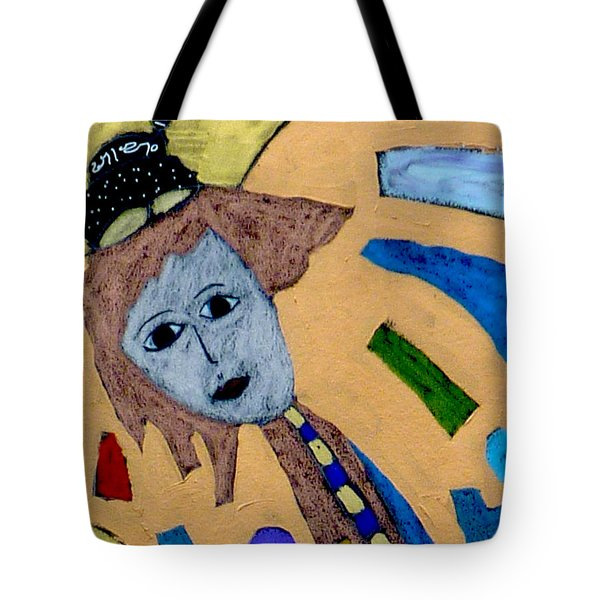Tote Bag featuring the painting Archangel Metatron by Clarity Artists