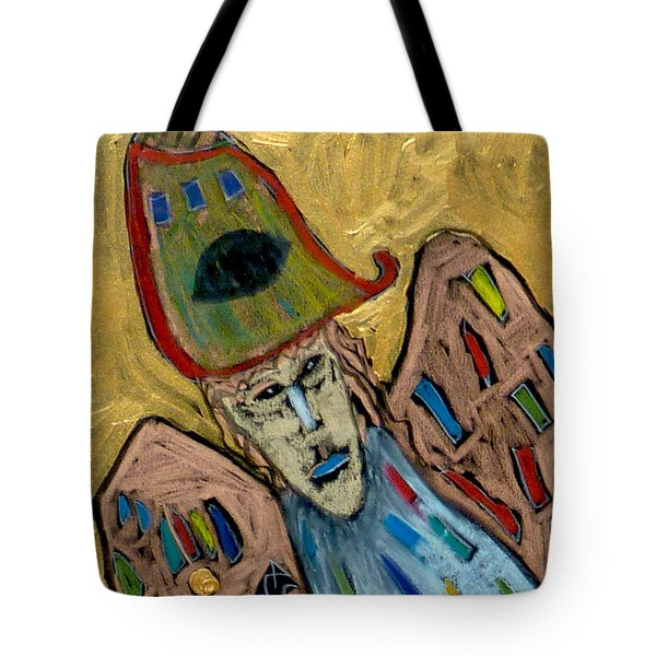 Tote Bag featuring the painting Archangel Michael by Clarity Artists