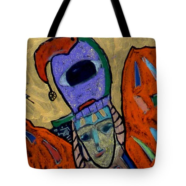 Tote Bag featuring the painting Archangel Raguel by Clarity Artists