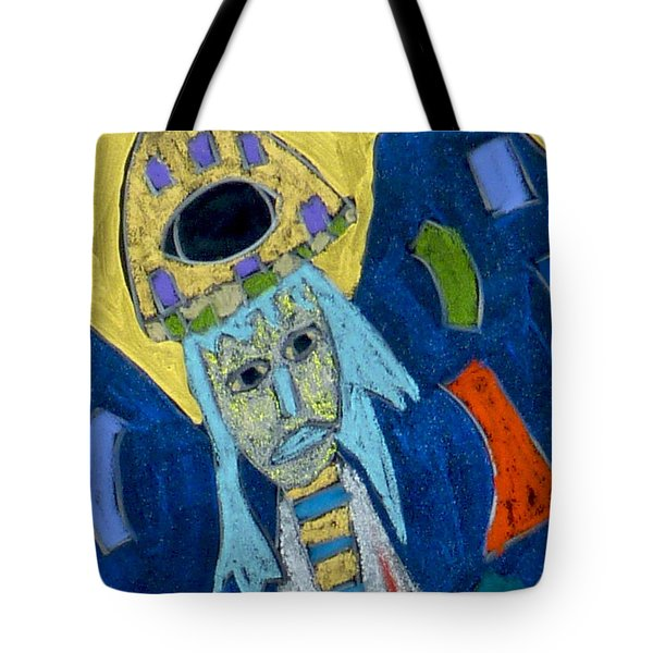 Tote Bag featuring the mixed media Archangel Raphael by Clarity Artists