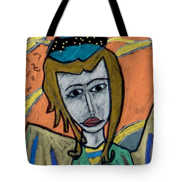 Tote Bag featuring the painting Archangel Uriel by Clarity Artists