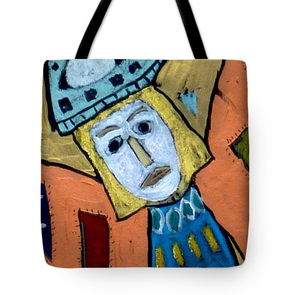 Tote Bag featuring the mixed media Archangel Zadkiel by Clarity Artists