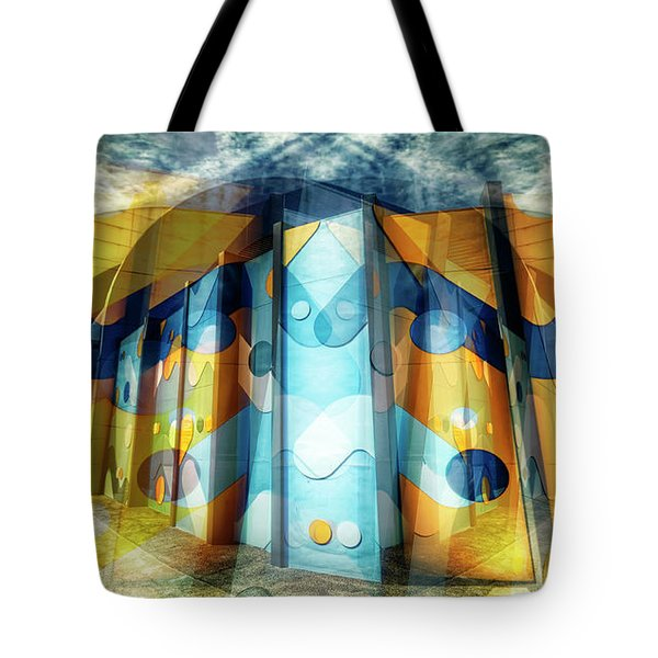 Tote Bag featuring the photograph Architectural Abstract by Wayne Sherriff