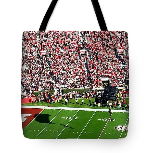 Army Rangers Drop In On Gameday Tote Bag