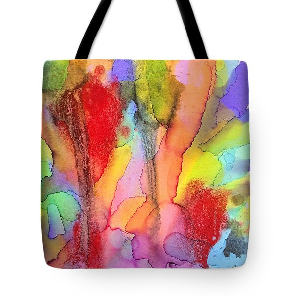 2 Art Abstract Painting Modern Color Signed Robert R Erod Tote Bag