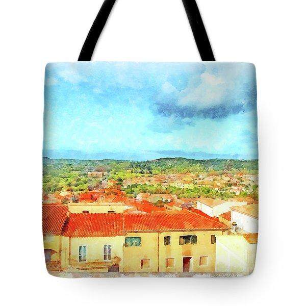 Arzachena Landscape Tote Bag