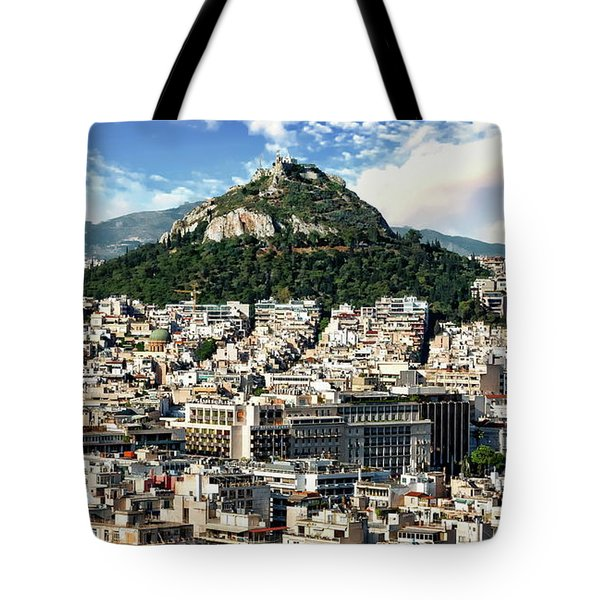 Athens Panorama Tote Bag