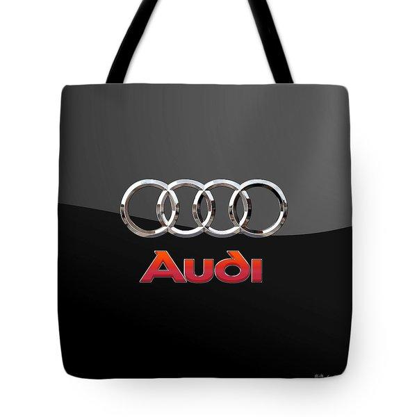 Audi - 3 D Badge On Black Tote Bag