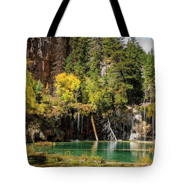 Autumn At Hanging Lake Waterfall - Glenwood Canyon Colorado Tote Bag by Brian Harig