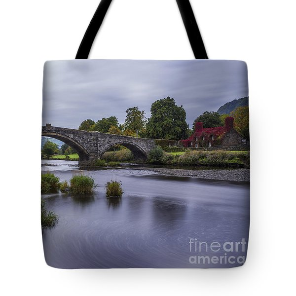 Autumn Cottage Tote Bag by Ian Mitchell