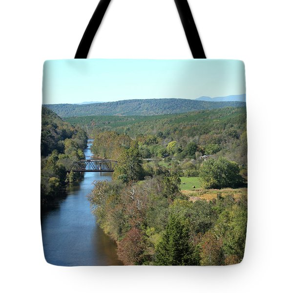 Autumn Landscape With Tye River In Nelson County, Virginia Tote Bag