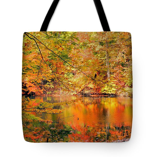Autumn Reflections Tote Bag by Kristin Elmquist