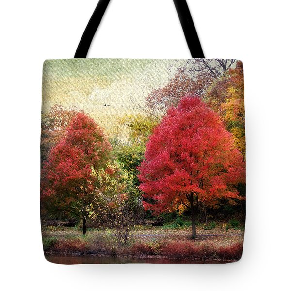 Autumn's Canvas Tote Bag by Jessica Jenney