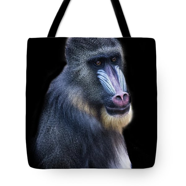 Baboon Portrait Tote Bag