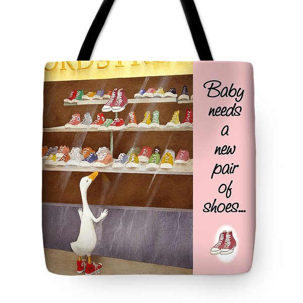 baby needs a new pair of shoes...THROW-TOTE Tote Bag
