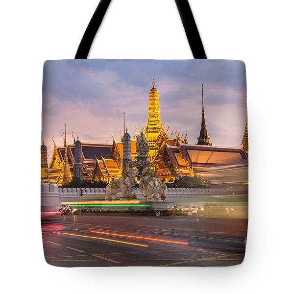Bangkok Wat Phra Keaw Tote Bag